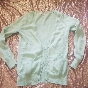 Forever 21 small mint cardigan